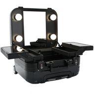 Kozmetický kufor Glamour čierny 9301 (prenosný stolík)