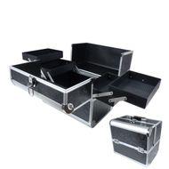 Biostyle rozkladací kozmetický kufor čierny s ornamentmi