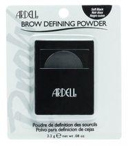 Ardell Brow Defining Powder, farba na obočie - Soft Black, 2,2 g