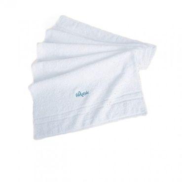 Froté uterák s logom Biostyle, biely 99 cm x š 49 cm