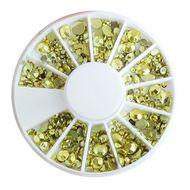 Karusel so žltými kamienkami mix veľkosti