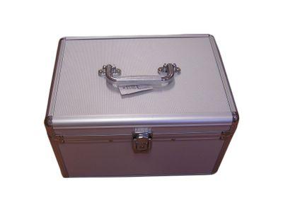 Kozmetický kufrík rozkladací, strieborný - stredne veľký