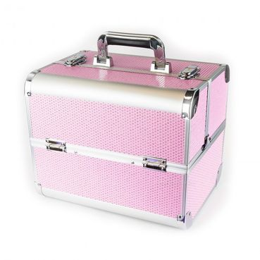 Biostyle rozkladací kozmetický kufor so zirkónmi 32x24x26 cm