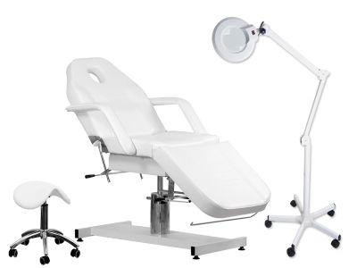 Sada kreslo + Lupa lampa R6 + Taburet 3205