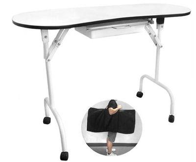 Stôl na manikúru 4031 biely skladací