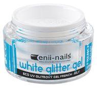 Enii nails UV GÉL french white glitter 10 ml