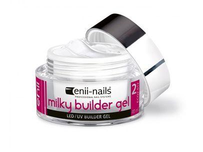 Enii nails UV GÉL French, modelovací, mliečno biely 40 ml