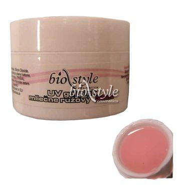 Biostyle stavebný UV gél pink mliečne ružový 30ml